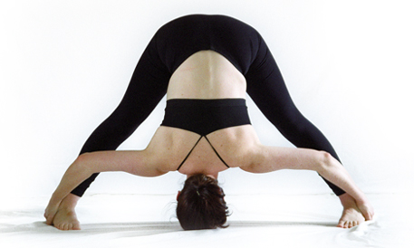 Standing Separate Leg Stretching Pose